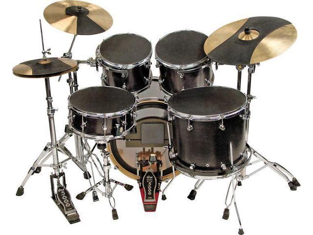 hq soundoff drum mute set 12 13 14 16 bass hi hat cymbal snare ride practice. Black Bedroom Furniture Sets. Home Design Ideas