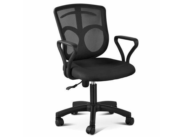 Black Ergonomic Mesh Back Office Computer Desk Chair Adjustable Height Wheels