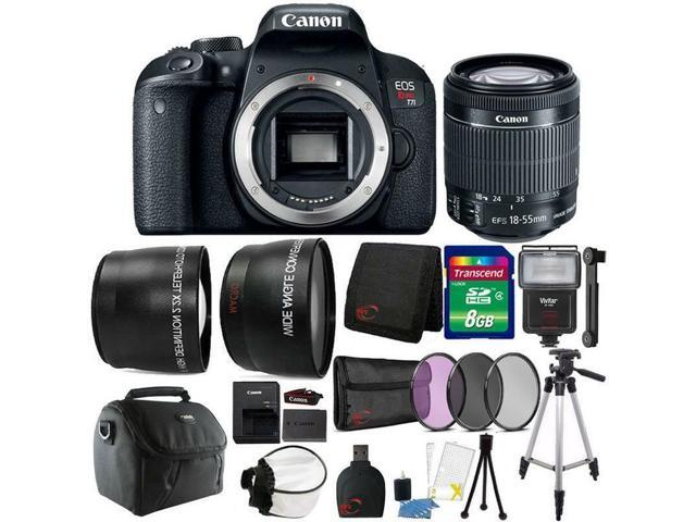Canon Eos Rebel T7i 24 2mp Dslr Camera With 18 55mm Lens And Top Accessory Kit Newegg Com
