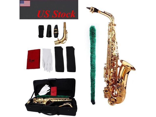 saxophone sax eb be alto e flat brass plastic mouthpiece with cleaning kit i1d2. Black Bedroom Furniture Sets. Home Design Ideas