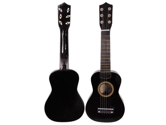 black 21 6 string beginners practice acoustic guitar musical instruments kids. Black Bedroom Furniture Sets. Home Design Ideas