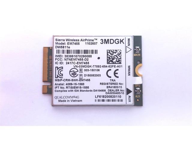 Qualcomm Sierra Wireless Airprime 4G LTE EM7455 DW5811E