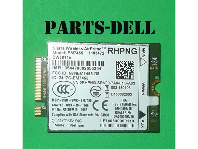 Refurbished: Dell Precision 7510 3510 Wireless DW5811e Mobile 4G LTE M 2  WWAN CARD A03 RHPNG - Newegg com