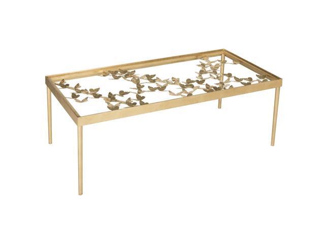 24 X 24 Coffee Table.Safavieh Rosalia Antique Gold Leaf Coffee Table 48 X 24 X 17 8 Newegg Com