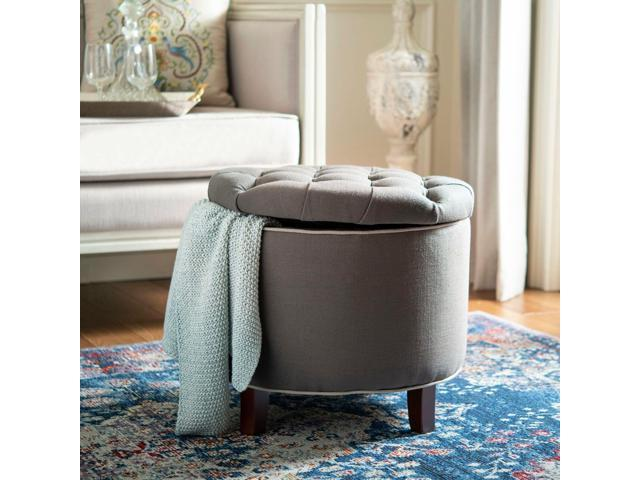 Awesome Safavieh Reims Grey Storage Ottoman Newegg Com Gmtry Best Dining Table And Chair Ideas Images Gmtryco