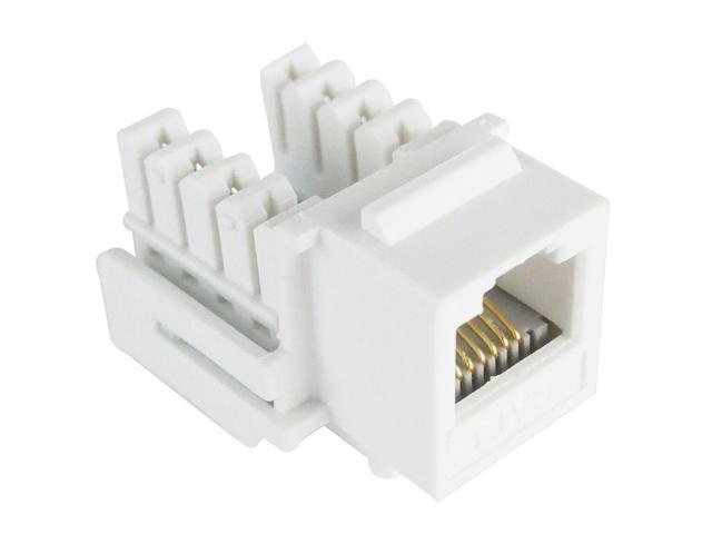 10pcs Blue Cat5E RJ45 Tool Less Keystone Jack for Solid Ethernet Network Cables