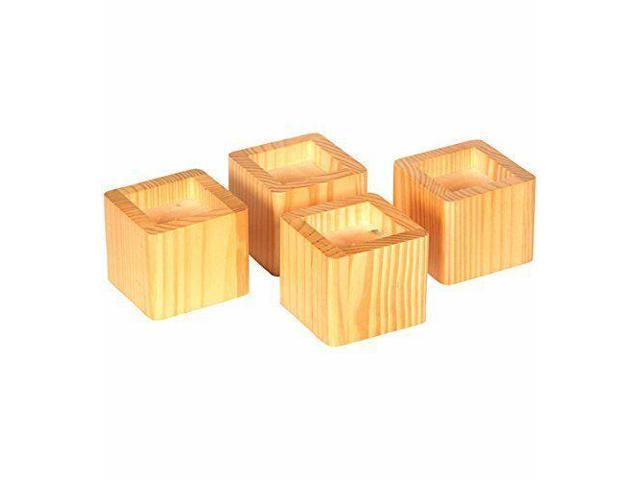 Set of 4 Fits 2.75 x Richards Homeware 98041000 Espresso Hardwood Bed Lifters