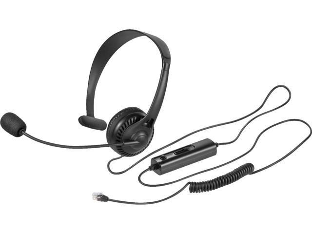 Insignia Landline Phone Hands Free Headset Black Newegg Com