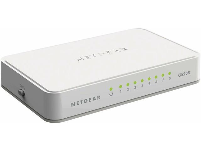 Fa NETGEAR 8-Port Gigabit Ethernet Unmanaged Switch Desktop Internet Splitter