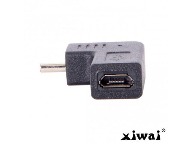 Cablecc USB-C Type-C Male to Micro USB 2.0 5Pin Female Data Adapter 90 Degree Angled Type