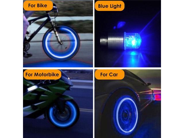 Universal LED Wheel Tyre Tire Valve Caps Neon Light Bulb For Bike Car Motorcycle