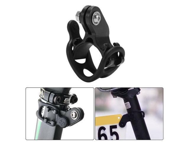 MTB Road Bike Race Number Plate Mount Holder Flashlight Computer Bracket Holder//