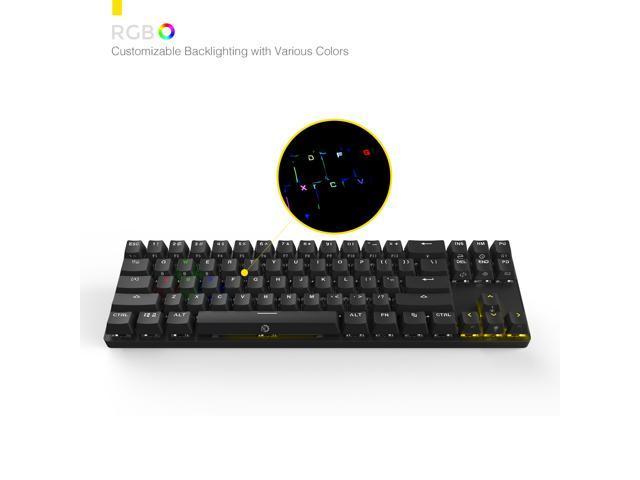 17f31888f45 DREVO Calibur 71 Key Gaming Mechanical Keyboard Wireless Bluetooth 4.0 /  USB Wired, RGB LED