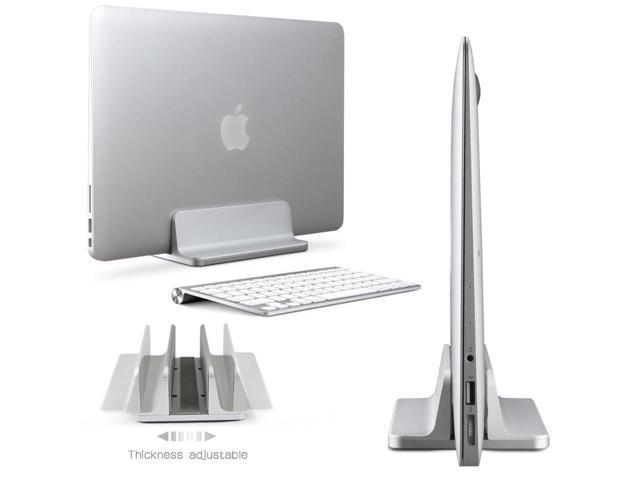 Aluminum Vertical Laptop Stand Desktop Space Saving Holder for MacBook Pro Notebook New Design Laptop Stand Holder Mount for