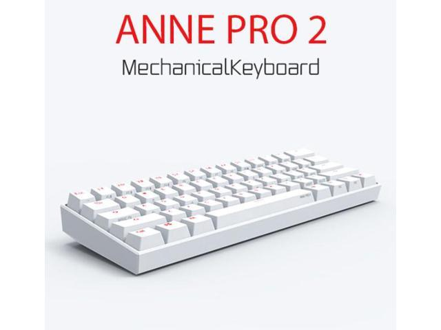 c0f90c8a643 Anne Pro 2 Wired/ Wireless White Gaming Mechanical Keyboard 60% RGB Bluetooth  4.0 PBT