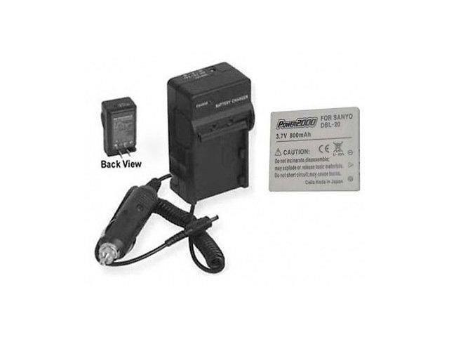 Battery + Charger for Sanyo DMXCG65G, Sanyo DMXCG65K DMXCG65S, Sanyo  DMXCG65, Sanyo DMX-CA65, Sanyo DMX-CG65 - Newegg com