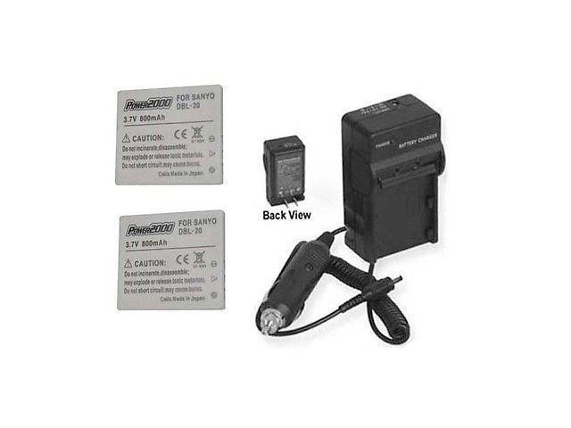 2 Batteries + Charger for Sanyo DMX-C6/S, Sanyo DMX-CA65, Sanyo DMX-CA6,  Sanyo DMX-CA6EX, Sanyo DMX-CA8EX - Newegg com