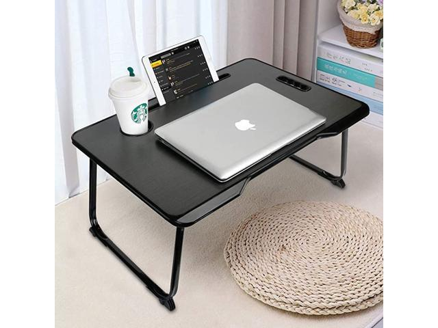 Laptop Bed Tray Table With Handle, Portable Folding Computer Desk Laptop Notebook Reading Tablet
