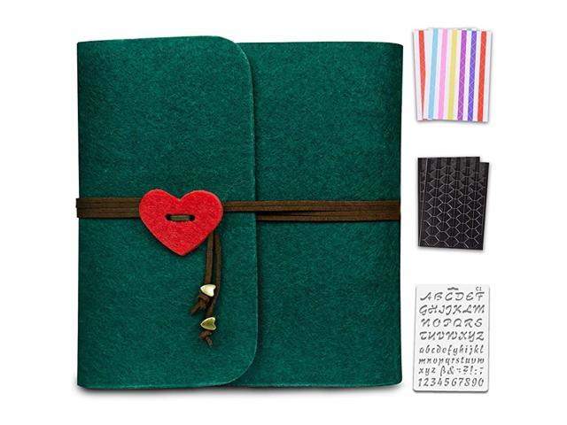 Photo Album 4x6 Black Pages Scrapbook Love Photo Book Felt Picture Album Wedding Photo Albums For 3 Ring Binder With Scrapbooking Supplies Newegg Com