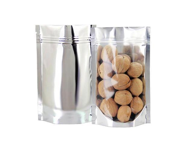 GooGou Resealable Zip Mylar Bag Food Storage Aluminum Foil Bags Smell Proof  Pouches 5.5x7.