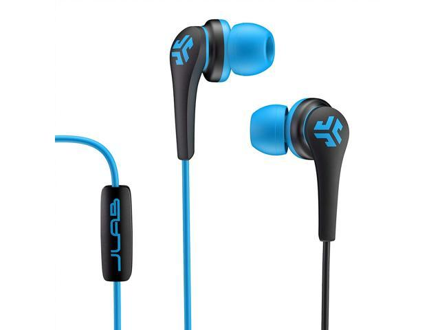 JLab Audio Core Hi-Fi Noise Isolating Earbuds with Mic and Cush Fin  Technology, Guaranteed, Guaranteed for Life - Blue/Black - Newegg com