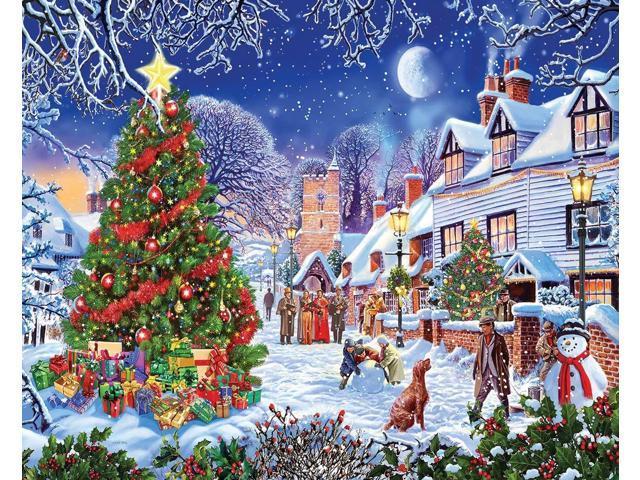 White Mountain Puzzles Village Christmas Tree