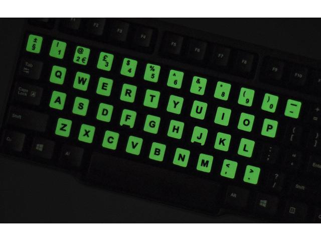 Keyboard Letters 2PCS Pack Universal English Keyboard Stickers Glow in The Dark