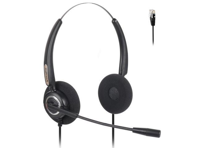 Binaural Corded RJ9 Phone Headset with Noise Canceling Microphone ONLY for  Cisco IP Phones: 7960 7970 7942 7971 8841 8851 8891 9951 etc - Newegg com