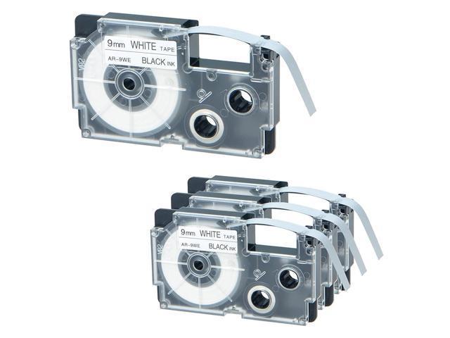 2//Pack Tape Cassettes for KL Label Makers 9mm x 26ft Black on Silver