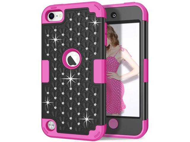 GLITTER Bling iPod Touch 4th Generation Case Mustache