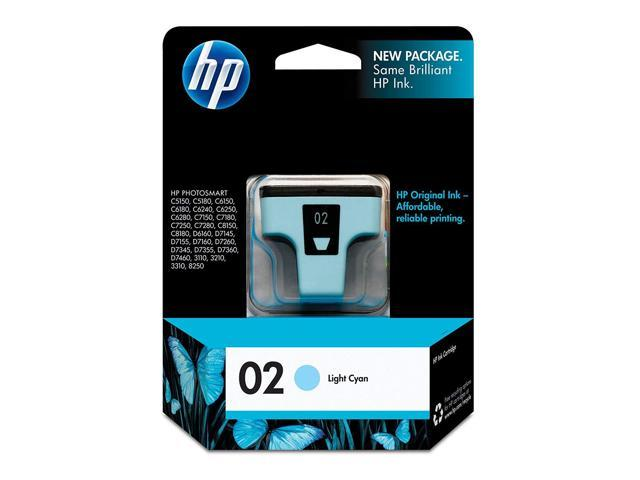 Hp 02 Light Cyan Original Ink Cartridge C8774wn For Hp