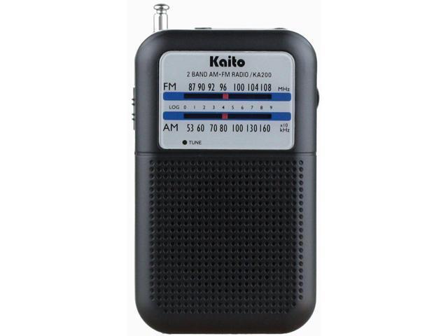 Kaito KA200 Pocket AM/FM Radio, Black - Newegg com