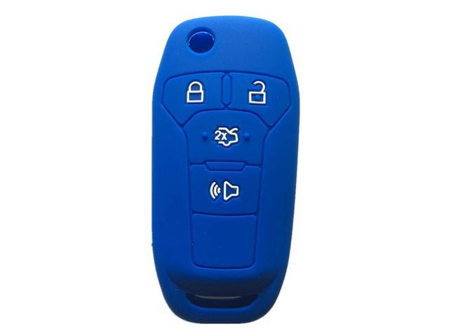 Wathet Rpkey Silicone Keyless Entry Remote Control Key Fob Cover Case protector For 2013 2014 2015 2016 Ford Fusion N5F-A08TAA 164-R7986 3248-A08TAA