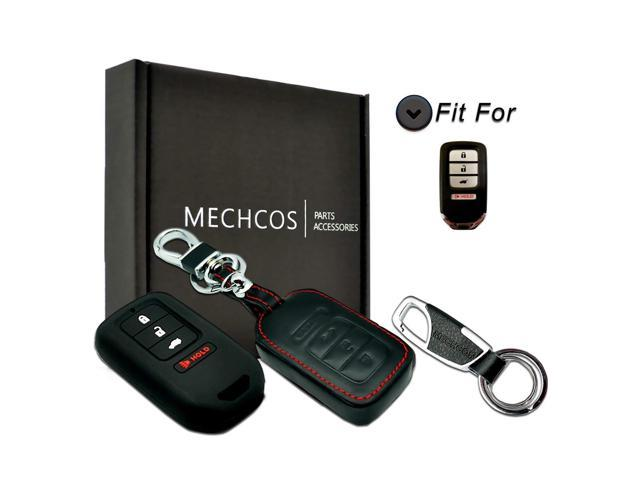 Black and Red Key Remote Case Key Fob Covers fit for Honda Civic Accord CR-V