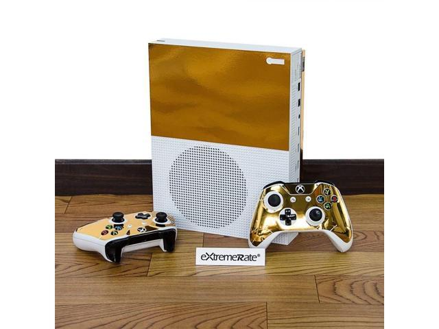 eXtremeRate Full Set Faceplates Skin Stickers for Xbox One S Console  Controller with 2 Pcs Console Power Button Decals - Newegg com
