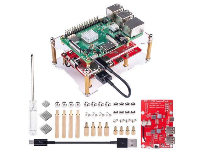 Smraza Raspberry Pi 3 B+ Battery Pack Expansion Board RPI 3 Model B+ USB  Battery Pack with Acrylic Case for Raspberry Pi - Newegg com