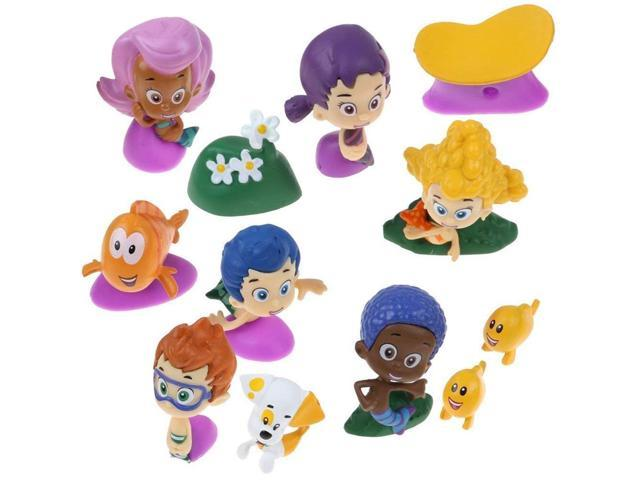 . Nickelodeon Bubble Guppies Deluxe Figure Set of 12 Cake Toppers Cupcake  Toppers Party Decorations   Newegg com