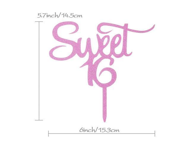 Sweet 16 Cake Topper - Happy 16th Birthday - Wedding Anniversary Party  Decoration Supplies - Newegg com