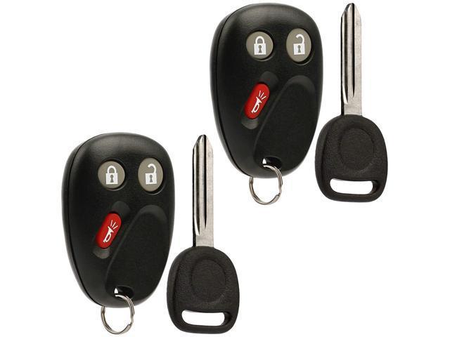 Key Fob Keyless Entry Remote with Ignition Key fits 2003-2006 Chevy  Avalanche Equinox Silverado SSR Suburban Tahoe / GMC Sierra Yukon / Hummer  H2 /