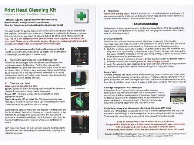 Print Head Cleaning Kit for Epson Canon Brother and HP