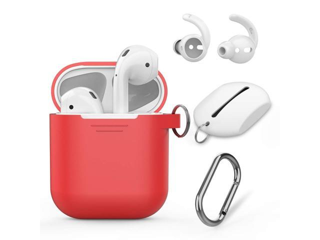 e924a84c1db AhaStyle AirPods Case Cover Silicone, 4 in 1 AirPods Accessories Set for Apple  AirPods 2