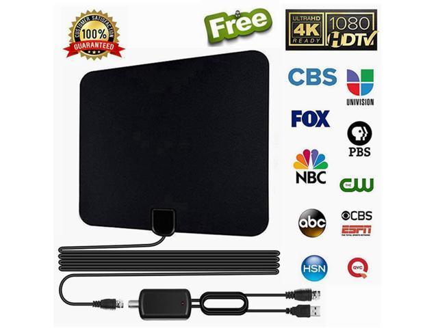 TV Antenna Ultra Amplified HDTV Antenna50 MilesRange with Adjustable
