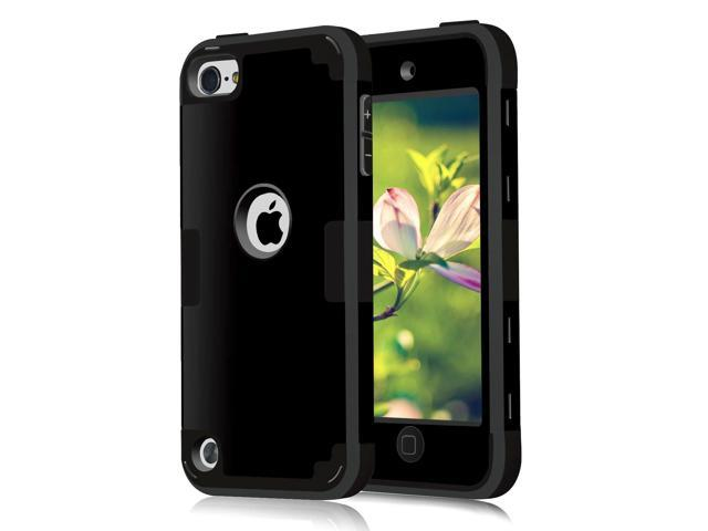 premium selection c944f b4694 Case for iPod Touch Cases for iPod Touch 5th Generation Case for iPod Touch  6th Generation Case, CheerShare 3 in 1 Hard PC Case + Silicone Shockproof  ...