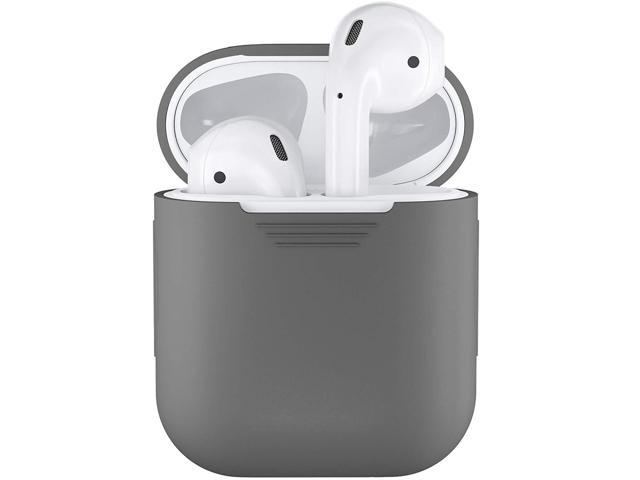 cheap for discount bdb1d 51b86 PodSkinz AirPods Case Protective Silicone Cover and Skin Compatible with  Apple Airpods 1 & AirPods 2 [Front LED Not Visible] (Grey) - Newegg.com
