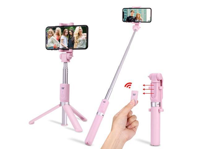 Selfie Stick,Foretoo Extendable Monopod, Rechargerable Bluetooth Remote  Shutter,360 Degree Rotation Phone Holder for Mobile Phone& Android Samsung