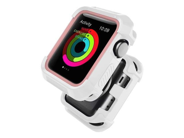 promo code 99fad 3a5a1 UMTELE Compatible with Apple Watch Case 38mm, Shock Proof Bumper Cover  Scratch Resistant Protective Rugged Case Replacement for Apple Watch Series  3, ...