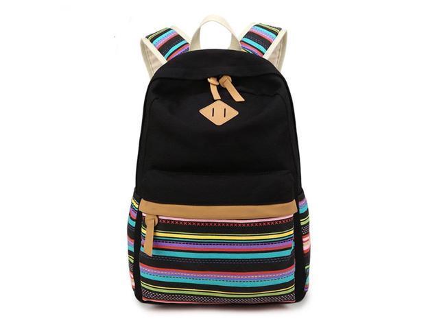 9f30909dad49 LuckyZ Women Canvas Backpack Leaf Printing School Bag Cute Laptop Bookbags  - Newegg.com