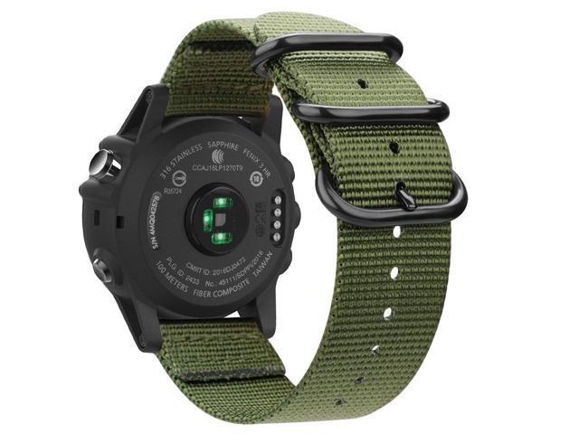 Fintie Band for Garmin Fenix 5X Plus/Tactix Charlie Watch, 26mm Premium  Woven Nylon Bands Adjustable Replacement Strap for Fenix 5X/5X Plus/3/3