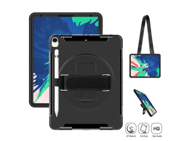 separation shoes bdd0e 28808 SUPFIVES iPad Pro 12.9 (3rd Generation) 2018 Case, Heavy Duty Case with  Stand+Hand Strap+Shoulder Strap+Pencil Holder Shockproof Durable Case for  ...