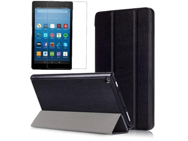 Gzerma for Amazon Fire HD 8 2017 Case and Screen Protector, (Compatible  with 7th / 8th Generation 2018), Folio PU Leather Stand Cover and  Protective